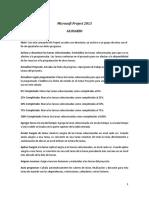 Microsoft Project 2013 Glosario