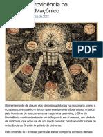 (APR-TRA-0036 Rev. 0) O Olho da Providencia no Simbolismo Maconico