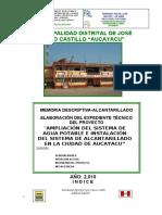 ALCANTARILLADO -AUCAYACU