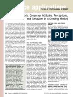 Functional Foods consumer attitudes, perception, behavior in a growing market  2011.pdf