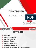 DIAPOSITIVAS QUIMICA ENLACES Y FUNCIONES QUÍMICAS