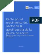 Pacto por el crecimiento del sector de la agroindustria de la Palma de Aceite
