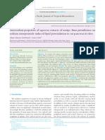Antioxidant properties of aqueous extracts of unripe Musa paradisiaca on sodium nitroprusside induced lipid peroxidation in rat pancreas in vitro