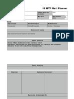 IB MYP - Unit Planner GRADE 7