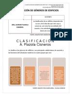 CLASIFICACIÓN  DE GÉNEROS DE EDIFICIOS Y NIVELES DE INTERVENCIÓN