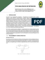 INFORME CIRCUITOS DE RETENCIÓN