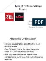 Need Analysis of FitBox and Cage Fitness finall