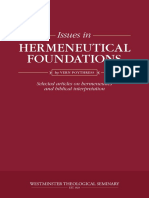 Issues in Hermeneutical Foundations