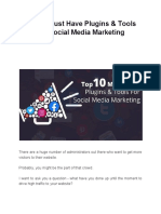 Top 10 Must Have Plugins & Tools for Social Media Marketing