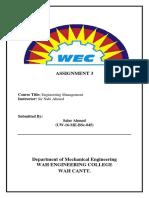 Assignment 3 EM