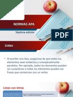 7.  NORMAS APA SEPTIMA EDICION - LISTAS
