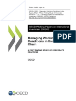 Managing Working COnditions in Supply Chain