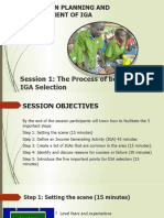 SPM Training _Session 1 The process of begining an IGA
