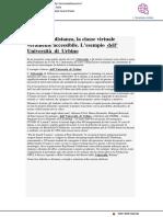 Didattica a distanza, l'esempio dell'Università di Urbino - Tecnica della Scuola.it, 1 aprile 2020