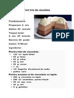 Tort Trio cu ciocolata