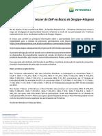 Petrobras divulga teaser de E&P na Bacia de Sergipe-Alagoas