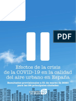 Informe Calidad Aire Covid 19