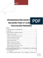 Programacion Religión 5º LOMCE cole bilingue concertado