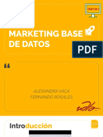 Marketing Base de Datos, por Alexandra Vaca