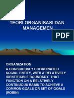 teori  organisasi dan managemen