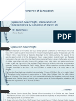 HIS103 Lec 15 Operation Searchlight, Declaration of Independence & Genocide of March 26