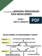 perkembangan organisasi & manajemen