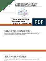 Soluciones cristaloides y coloides