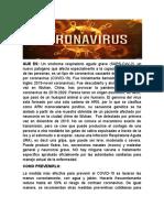 taller de fundamentos ,coronavirus