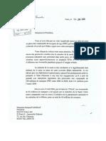 Lettre Dominique de Villepin 2006
