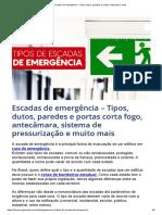 Escadas de emergência – Tipos, dutos, paredes e portas corta fogo e mais