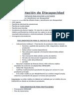 AA-Documentacion a solicitar Discapacidad