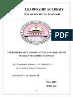 Ethiopian Economic Performance