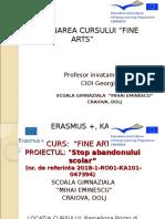 ERASMUS +, KA1-FINE ARTS - CIOI GEORGIANA
