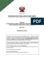 Plan Nacional de Ciencia y Tecnologia_CONCYTEC_2008-13