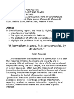Journalists Rights in Pakistan
