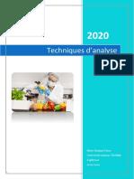 Cours de Techniques d'Analyse