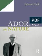 Deborah Cook Adorno on Nature 1