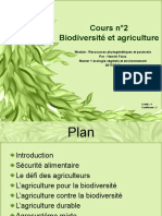2°Biodivérsité et agriculture