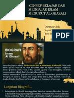 Konsep Belajar Mengajar Menurut Imam Al-Ghazali