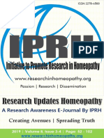 Research updates Homeopathy Vol 8 Issue 3 and 4