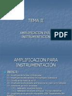 Amplificación para instrumentación
