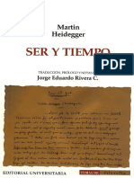 Heidegger. Ser y Tiempo. Trad J Rivera