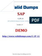 SAP C_CP_11 Certification Dumps of Pass Guaranteed Questions
