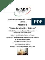 ACTIVIDAD 1 Antecedentes de La Administración Publica y El Derecho Administrativo