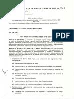 18. Ley 745 Ley de la decada del riego 2015-2025_Hacia el millon de hectareas