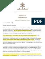 BENEDICTO XVI, audiencia 19 sept, Juan Crisóstomo