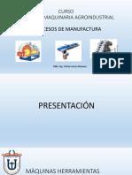 DISEÑO DE MAQUINARIA AGROINDUSTRIAL - PROCESOS DE MANUFACTURA
