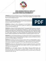 Laredo Coronavirus Protection Order