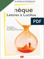 Lettres à Lucilius-Sénèque