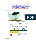 Crafting and Executing Strategy the Quest for Competitive Advantage 22e a. Thompson Jr., Test Bank and Cases